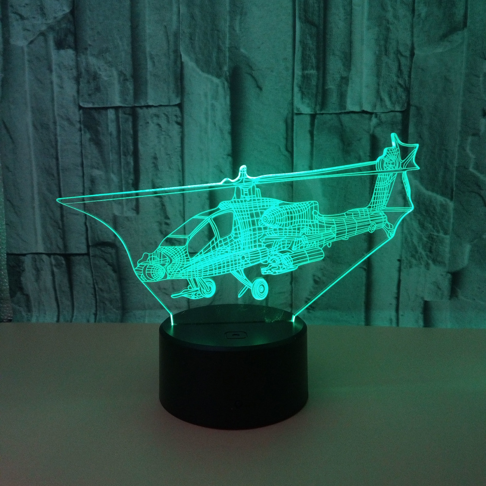 Creative Aircraft 3d Nightlight 7 Colorful Touch Remote Vision Lamp Usb Led  Night Light Luminaria De Mesa 3d Light FixturesCreative Aircraft 3d Nightlight 7 Colorful Touch Remote Vision Lamp Usb Led  Night Light Luminaria De Mesa 3d Light Fixtures