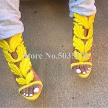 McNabney Wing Sandals Fashion Solid Peep Toe Platform Sandal