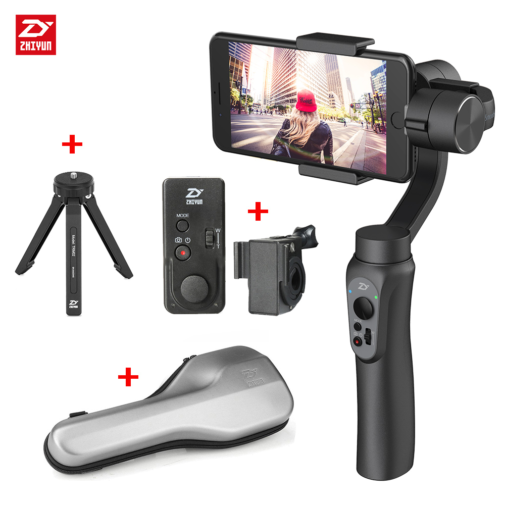 ZHIYUN Smooth 4 3 Axis Handheld Smartphone Gimbal Stabilizer for iPhone Samsung Smooth Q Portable Mobile Phone Gimbals
