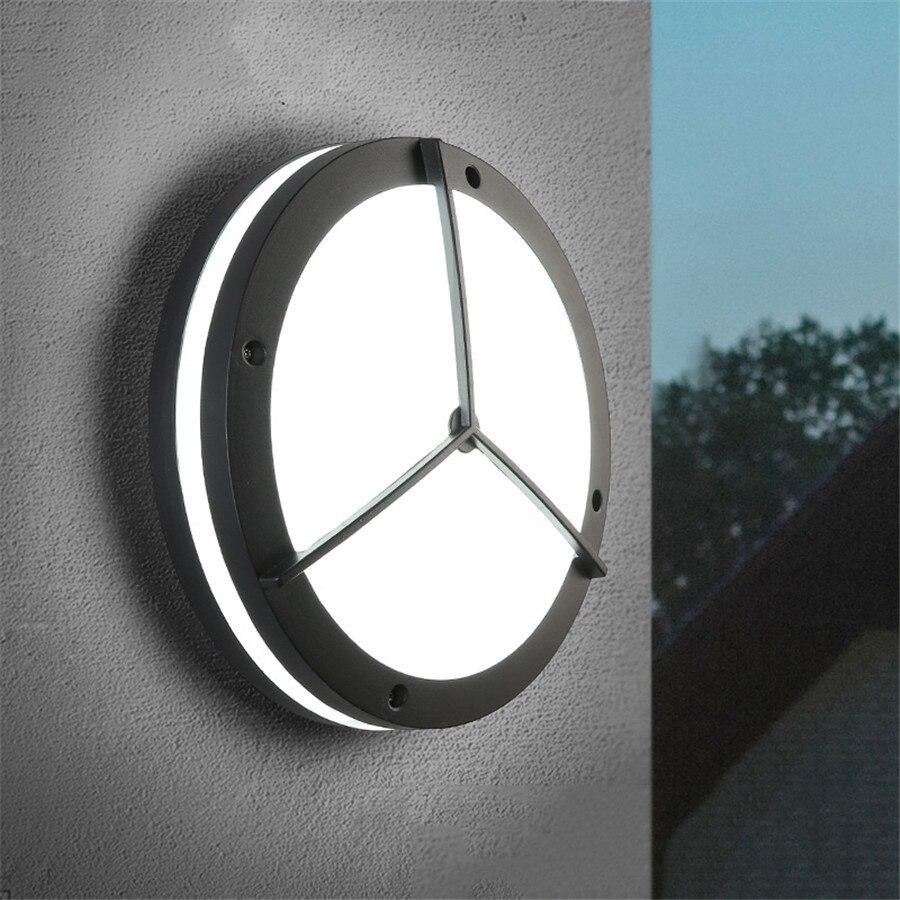 Thrisdar 24 Вт Водонепроницаемый светодиодный настенный светильник Современные Простые балкон крыльцо настенный светильник Открытый вилла шлю... ...