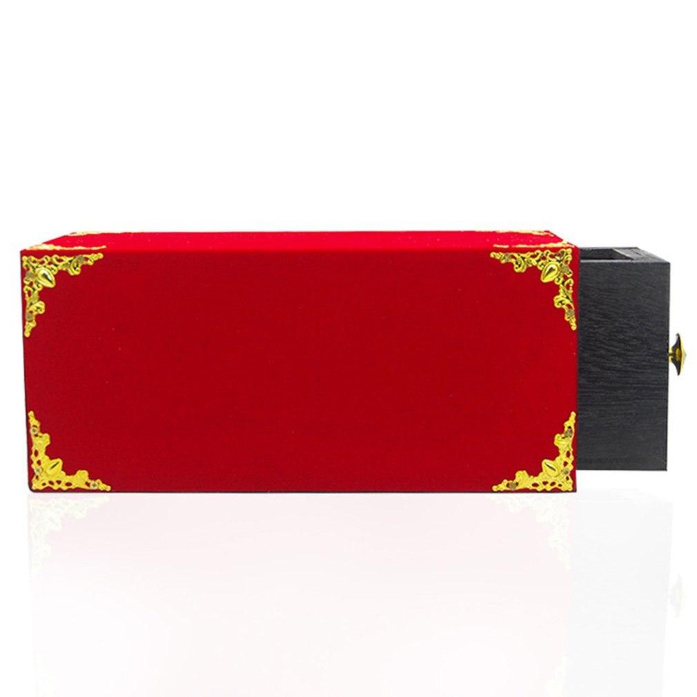 Accessoires de scène créatifs magique boîte rouge tours de magie Durable accessoires de magie tours jouets magiques jeu de Puzzle