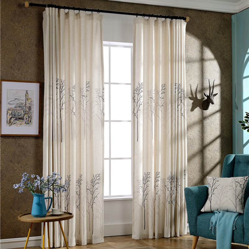 Beau Simple American Style Traditional Curtains Living Room Cheap Linen Curtains  Printing Casual Curtains Free Shipping In Curtains From Home U0026 Garden On ...