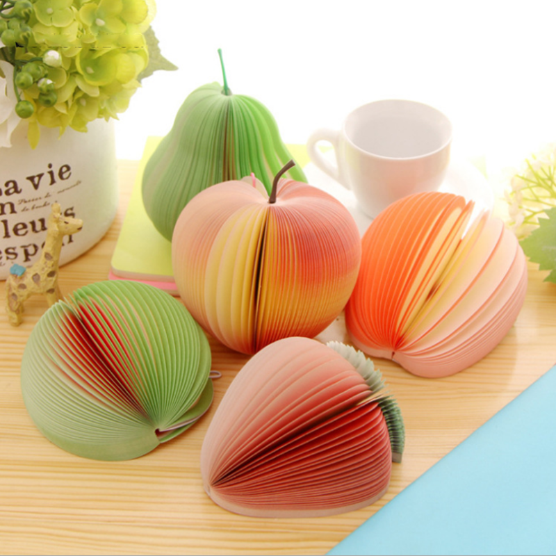 Sticky Notes Fruit Vegetables Memo Pads Kawaii 140 Pages Sticker Post Bookmark Point It Marker Memo Sticker Paper Stationery