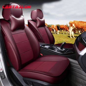 CARTAILOR Cowhide Automobiles Seat Covers for Ford Mondeo Car Seat Cover Genuine Leather Seats Cushion Supports Auto Accessories
