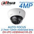 4MP h.265 IP PoE Dahua IPC-HDBW4431R-ZS motorizada foco automático zoom slot para cartão SD IR onvif cctv rede câmera firmware inglês