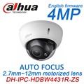 Dahua h.265 4MP IP PoE IPC-HDBW4431R-ZS моторизованный зум, авто-фокус слот для карты SD ИК onvif сеть видеонаблюдения камера английский прошивки
