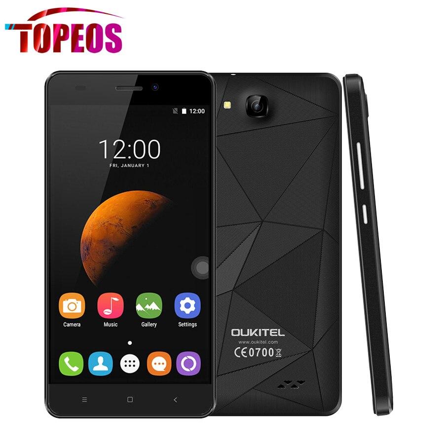 Цена за OUKITEL C3 5.0 дюймов Android 6.0 3 Г WCDMA Смартфон ОЗУ 1 ГБ ROM 8 ГБ MTK6580 Quad Core 1.3 ГГц Сотовый Телефон GPSDual SIM WIFI