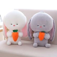 1pc 25 / 35cm Plüss Játékok Nyúl Brinquedos aranyos nyuszi párna kényelmes játék Hosszú fülek nyuszi Baba megnyugtatja baba Születésnapi ajándék babák