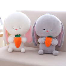 1pc 25 / 35cm Πλούσια παιχνίδια Κουνέλι Brinquedos χαριτωμένο Μαξιλάρι μαξιλάρι άνετο παιχνίδι Μακρύ αυτιά λαγουδάκι Μωρό απαλύνει κούκλα Γενέθλια Κούκλες δώρων