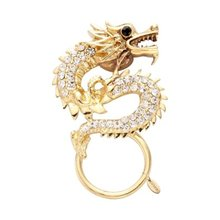 High Quality Unique China Style Gold-color Dragon with White Crystal Eyeglass Magnet Holder Best Gift To MEN/Boy Friends Wholes