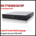 Hikvision nvr poe 32ch ds-7716ni-e4/16 p, DS-7732NI-E4/16 P, 16CH NVR, 16 portas PoE, até 5MP, 4 interface SATA HDD até 4 TB cada