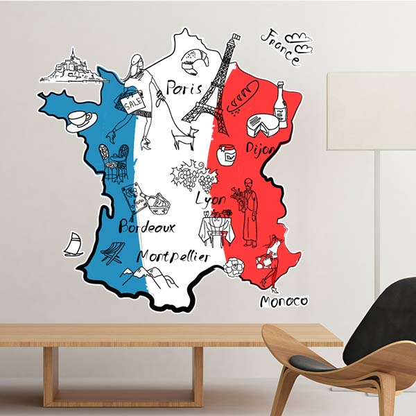 Map City France Mark Landmark National Flag Architecture Custom