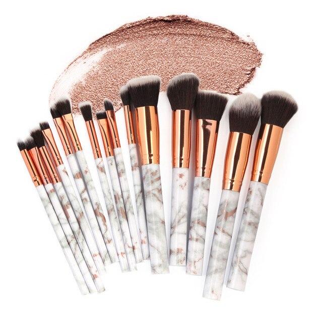 Pincel de contorno 15 piezas Juego de brochas de maquillaje multifuncional corrector de sombra de ojos Juego de Herramientas de pinceis de maquiagem pedzle # y2