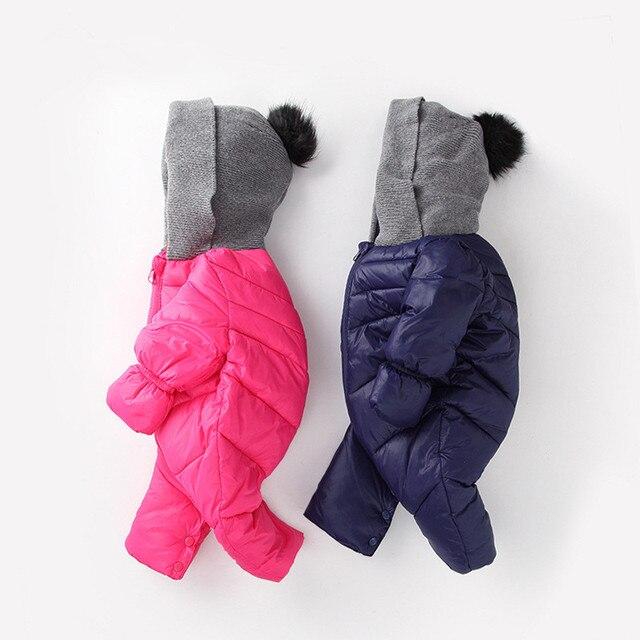 Зима детская одежда новорожденного ребенка комбинезон теплый мягкий девочек и мальчиков, зимняя одежда