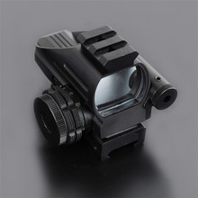 Buy Mini Red Dot Scope with LLL Night Vision Laser Sight Air Rifle Gun Riflescope Outdoor Hunting Telescope Sight Gunsight