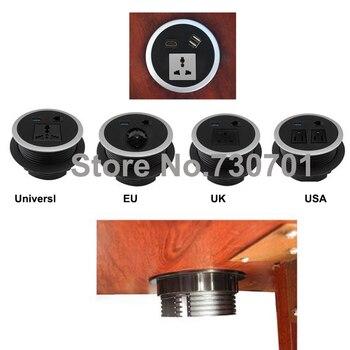 Round Table Mount Socket with Universal/UK/EU/USA power and RJ45/rj11/HDMI/dual USB /USB european USB usb multi charge sockets