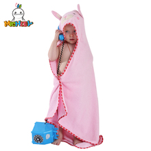 MICHLEY Animal Model Cloak 100% Cotton Baby Bathrobe/Cartoon Towel/Character Kids Bath Robe/ Towel/Hooded qwa-xin