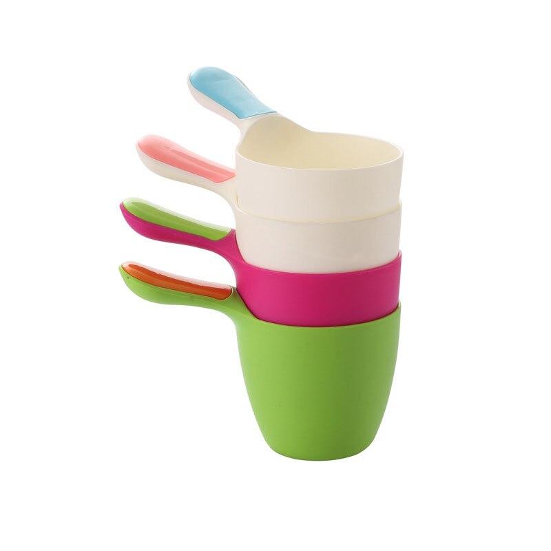 Baby Infant Children Shower Bath Toys Shampoo Shower Tool Kids Hair Washing Cup Rinser Gift NSV775