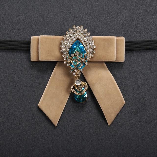 Новый Для мужчин платье рубашка Броши Для мужчин Костюмы с бантом из ленты; вырез горловины Шпильки Свадебные Стразы Шпильки кристалл галстук-бабочку Модные украшения