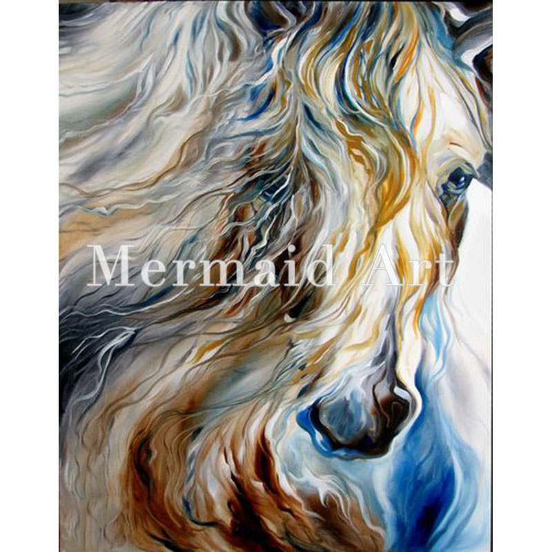 Hand Painted Art Oil Paintings Animal Abstract Horse Head Painting On Canvas For Living Room Artwork Home Decoration In Calligraphy From