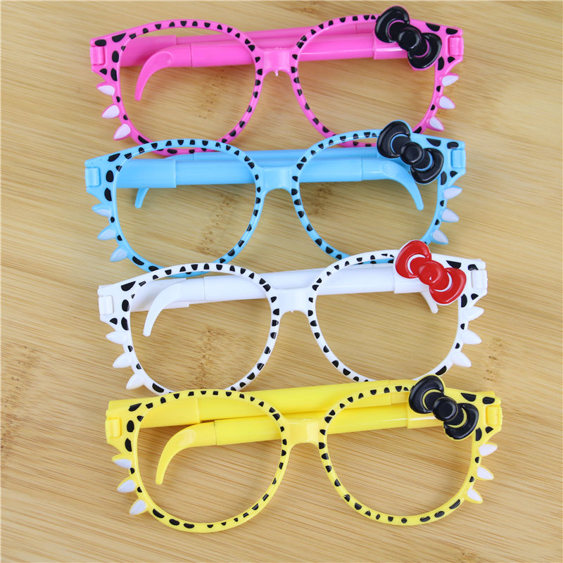 75dbf43bd3 Lots 4pcs Glasses Frame Kittens Bowknot Cartoon Kawaii Ballpoint Pen  Children Gift-in AC DC Adapters from Consumer Electronics on Aliexpress.com