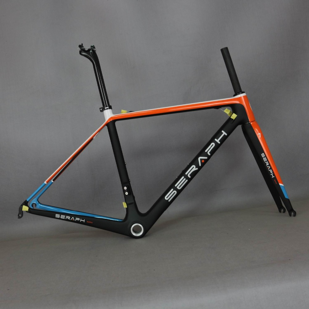 Betifuly Paint  Super Light Road Bike Frame BSA/BB30 Carbon Bicycle Frame SERAPHBIKE T1000 Bicycle Frame