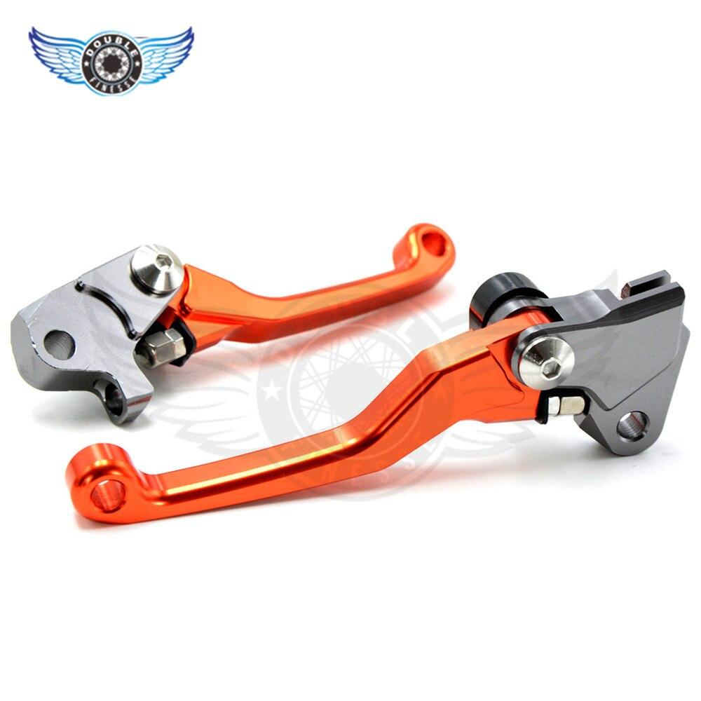 Foldable   brake lever orange dirt bike CNC Pivot Brake Clutch Levers For Yamaha YZ 80/85 1995 1996 1997 1998 1999 2000 2001