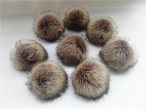 Image 3 - Wholesale 10pcs /lot Crinkle Resistant Faux Fur Pom pom For knitted Beanies Caps Hats Bags Key chain Garments Accessories Gift