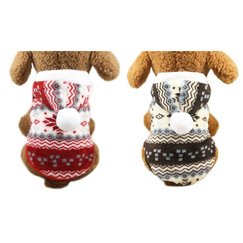 Hoomall 6 Formato Da Neve Modello Pet Felpe Vestiti Del Cane Cappotto Per Il Cane Di Natale Di Stile Caldo Di Inverno Cucciolo Cappotto Del Rivestimento Del Maglione Abiti In Pile