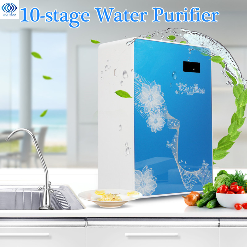 10 Stage Water Filter Appliances System Home Purifier Water Filters Household Ultra Filtration Water Filter Kitchen PP UDF PH UF