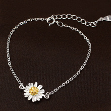 2017 New Fashion Silver Color Charm Bracelet For Women Flower Bracelet Vintage Jewelry Pulseiras Femininas Party Acessorios