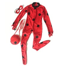 Miraculous ladybug Costume lady bug kids girls Cosplay costumes For Christmas New Year Purim Halloween Festive party