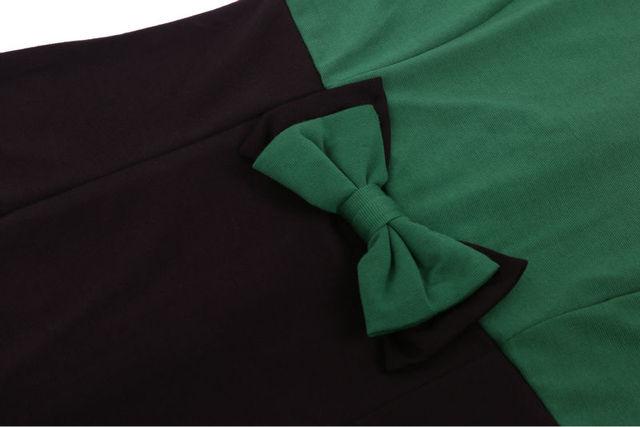 Elegant Bowknot Fitted Sheath Pencil Dress
