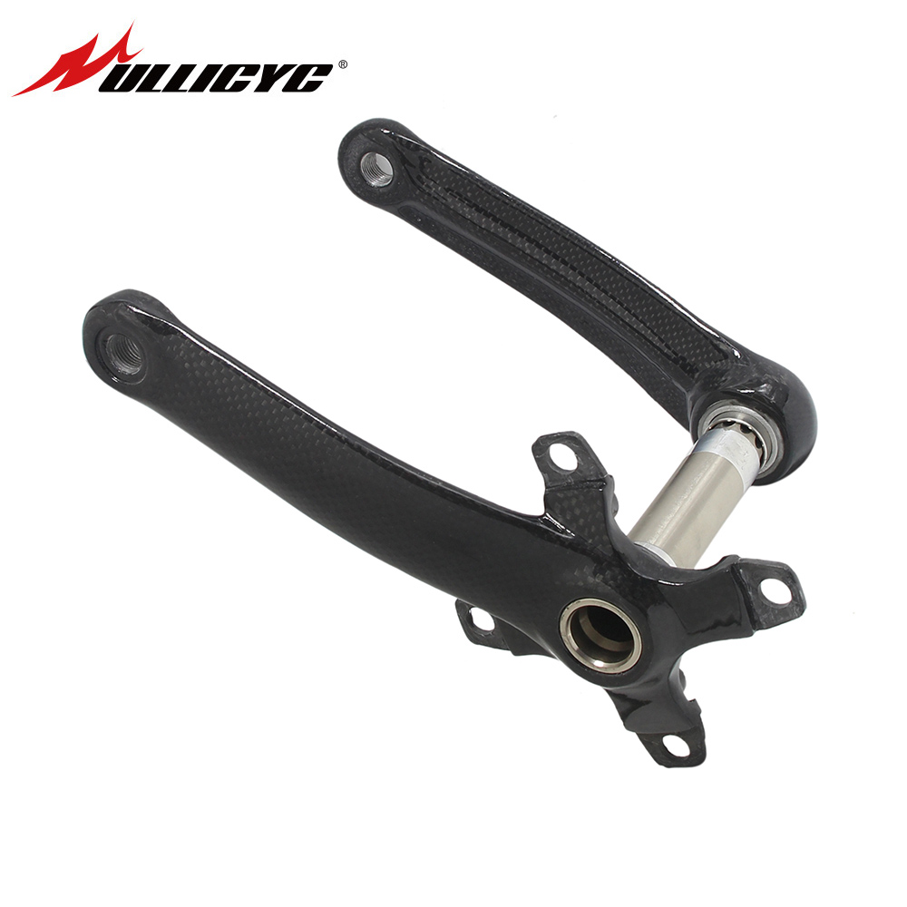 2017 Carbon Crank Mmountain Bike Bicycles 4 Claw MTB Bike Crankset Lenght 170mm 175mm BCD104mm 64mm Gold Gray Black QB170 future carbon fiber bicycle crank mtb bike crankset ultra light carbon crank road cycling accessaries bcd130 170mm 175mm
