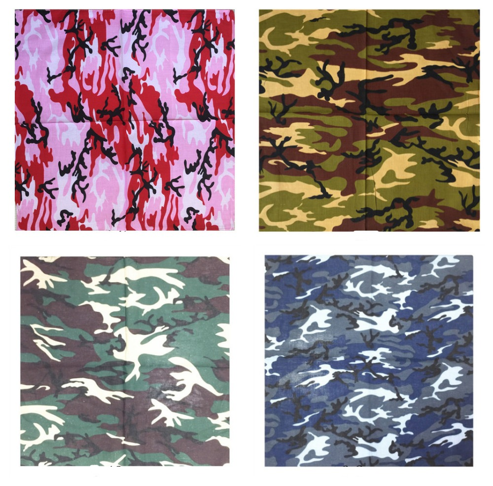 Camo Military Hip-hop Cotton Blended Brand Bandanas For Men Women Magic Head Scarf Scarves Wristscarf Accessories For Men Woman