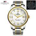 2016New Carnival Tritium luminous rhinestone military watch automatic mechanical mens sapphire luxury brand full steel watches