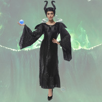 2016 Adult Halloween Costumes For Men Women Sleeping Beauty Maleficent Dress Maleficent Costumes Hat XXL