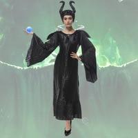 2016 Adult Halloween Costumes For Men Women Sleeping Beauty Maleficent Dress Maleficent Costumes Hat XXL