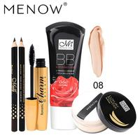 Menow Wasserdichte Langlebige Lippenstift Cottect Eyeliner Stempel Bilden Set Oktober 20