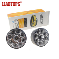 LEADTOPS Super Bright 18 LED Car Light White DRL LED Daytime Running Light LED Fog Light