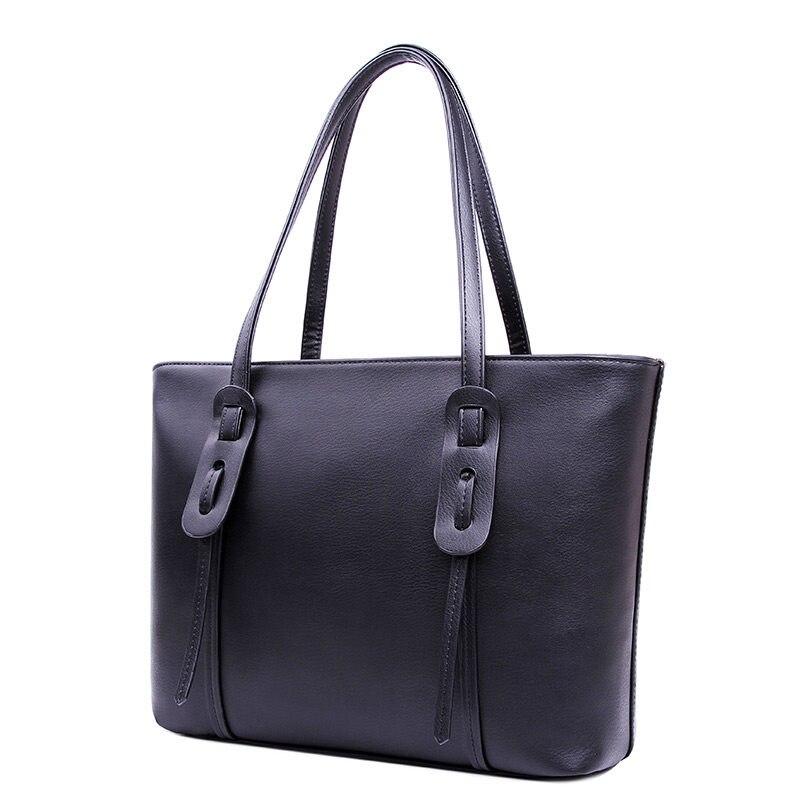 Fashion Drawstring Ornament Women Black Grey Tote Bag Functional Shoulder Bag Ladies Casual Designer PU Large