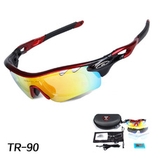 5 Pairs Lens Mens Womens Polarized UV400 Cycling Eyewear Bicycle Sunglasses MTB Mountain Outdoor Sports Riding Glasses in Box