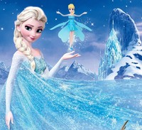 Flying Fairy Elsa Doll With Music Toy Infrared Induction Control Flying Dolls For Girls Remote Control