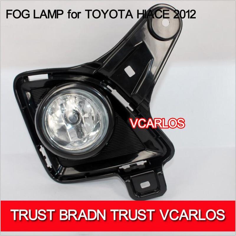 ФОТО Hireno Car Fog lights Lamp Cable Harness Halogen light switch control Set for Toyota HIACE 2012 2Pcs