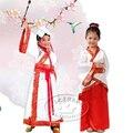 Niño la danza del traje hanfu femenino servicio de clase desgaste del funcionamiento de la danza popular china