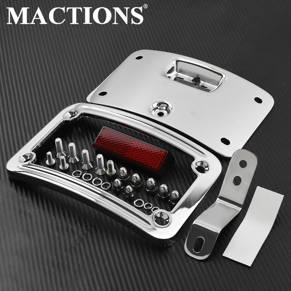 Motorcycle License Plate Mounting Frame Kit For Harley Softail Heritage Springer Classic FLSTSC 05 07 Softail