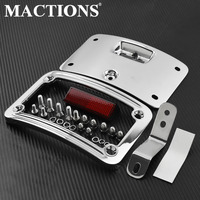 Motorcycle License Plate Mounting Frame Kit For Harley Softail Heritage Springer Classic FLSTSC 05 07 Softail Deluxe FLSTN 05 14