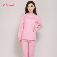 Long Sleeves Uniformes Hospital Women Medical Clothing Nursing Scrubs Clothes Set Dental Clinic Nurse Surgical Suit