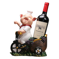 Скандинавский креативный стеллаж для вина со Свинкой, украшение для шкафа, украшение для шкафа, украшение для дома, гостиной, крыльца, ТВ шка