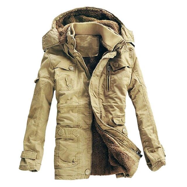 4e5d42c958753 2018 nueva llegada gruesa chaqueta de Invierno Caliente hombres Casual  delgado con capucha Parka hombres alta